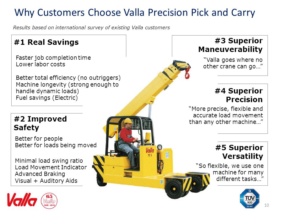 Why Customers Choose Valla Precision Pick and Carry