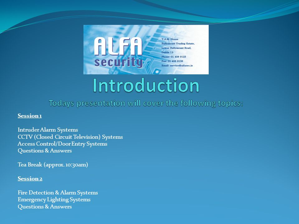 Introduction Todays presentation will cover the following topics: