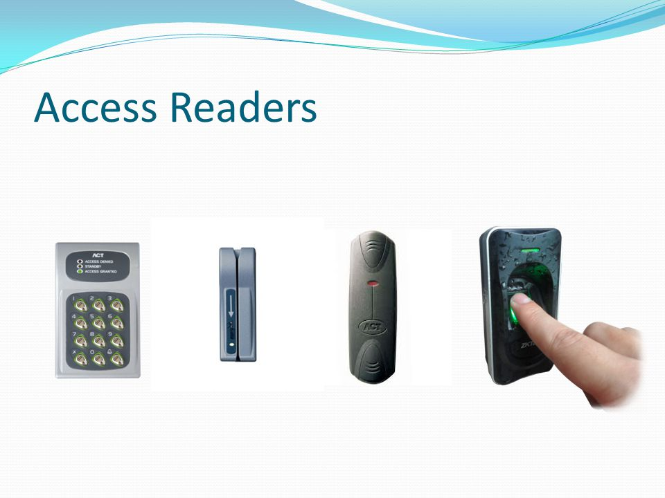 Access Readers Magstripe/Swipe cards are old technology and are subject to wear and tear. Proximity readers can be used with proximity cards or fobs.