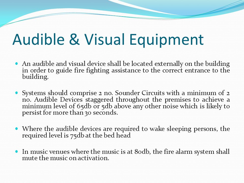 Audible & Visual Equipment