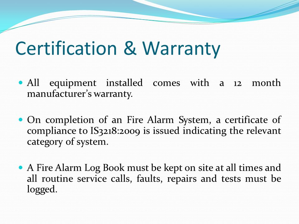 Certification & Warranty