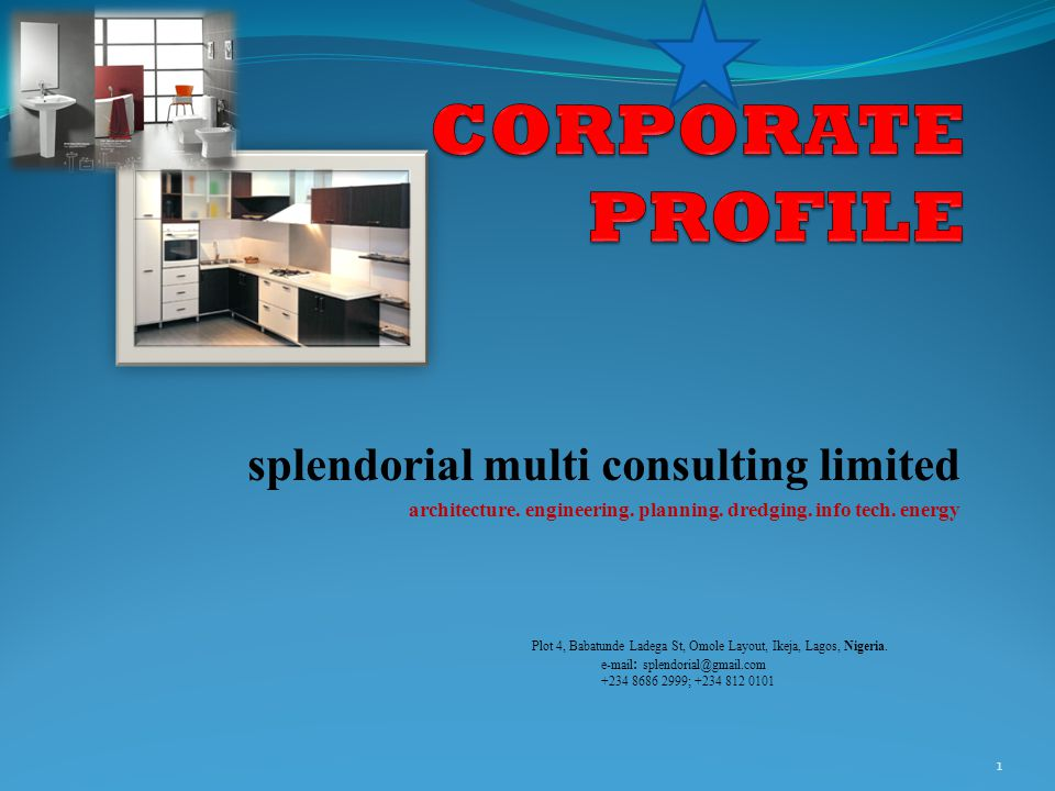 CORPORATE PROFILE splendorial multi consulting limited