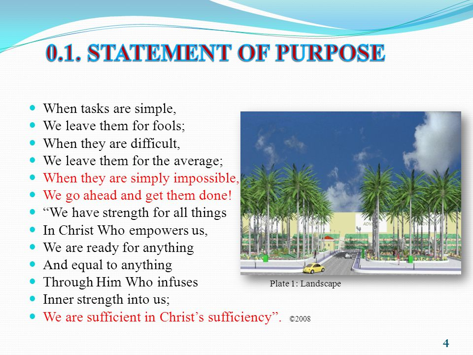0.1. STATEMENT OF PURPOSE When tasks are simple,