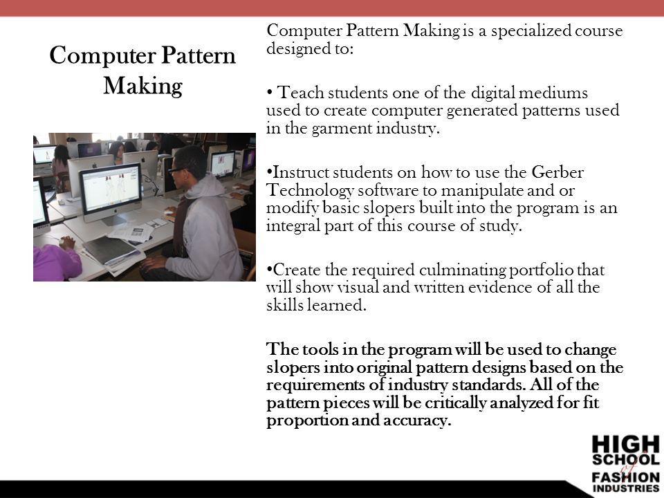 Computer Pattern Making