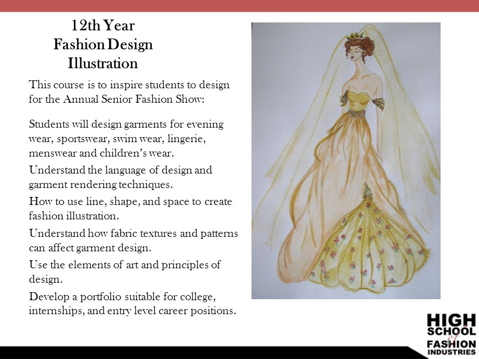 12th Year Fashion Design Illustration