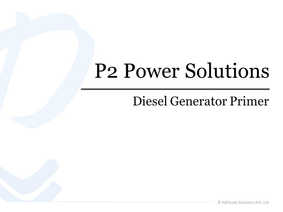 © P2Power Solutions Pvt. Ltd