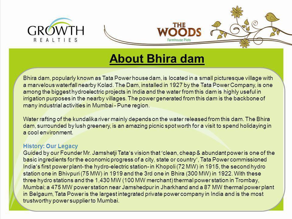 About Bhira dam