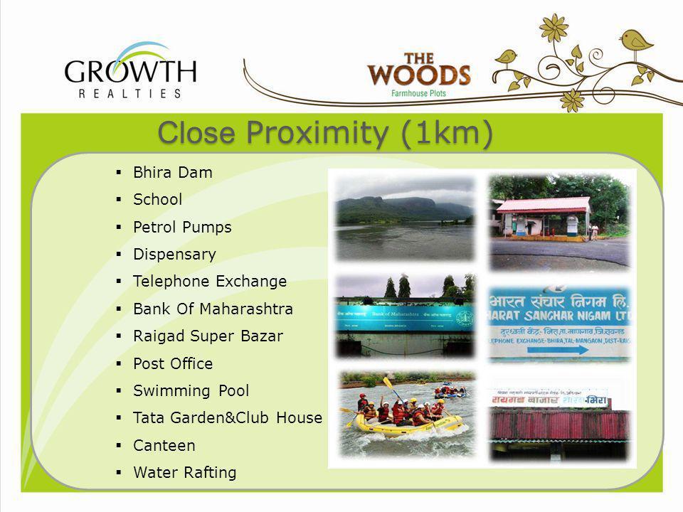 Close Proximity (1km) Bhira Dam School Petrol Pumps Dispensary