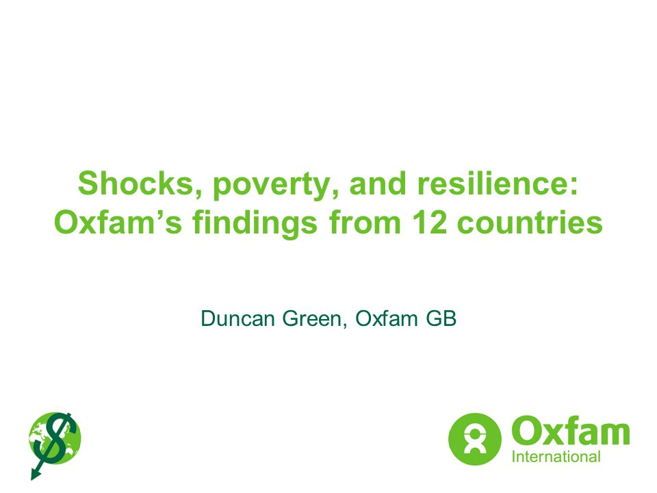 Shocks, poverty, and resilience: Oxfam's findings from 12 countries