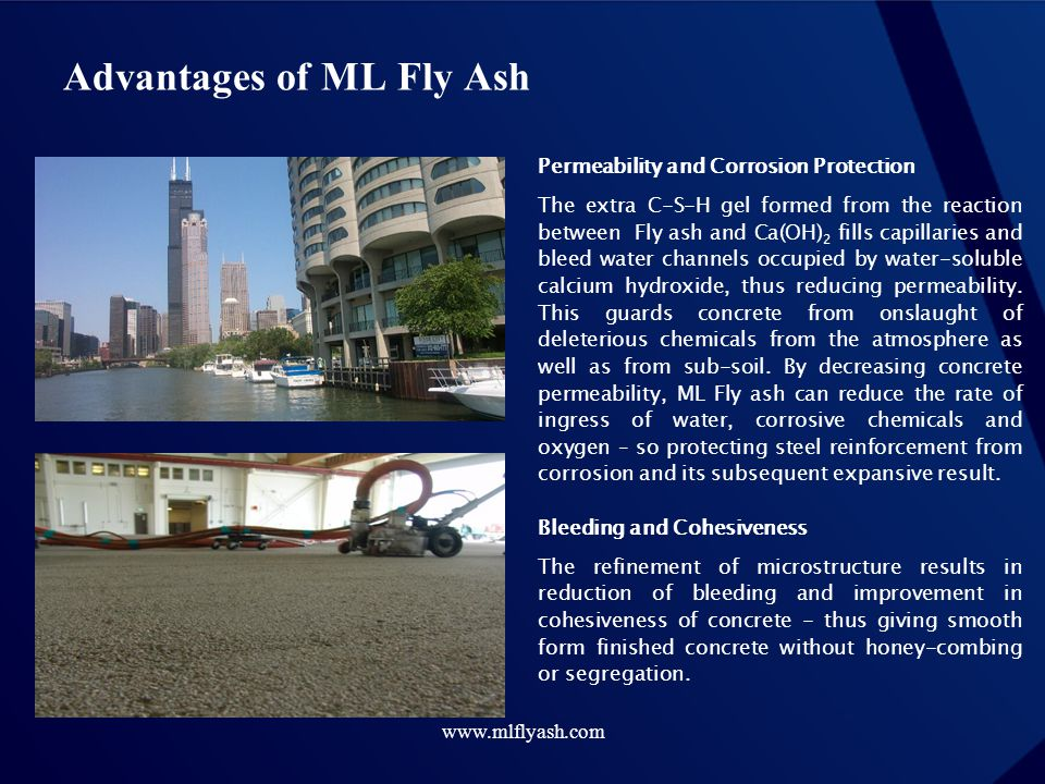 Advantages of ML Fly Ash