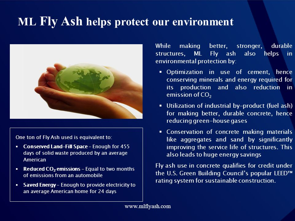 ML Fly Ash helps protect our environment