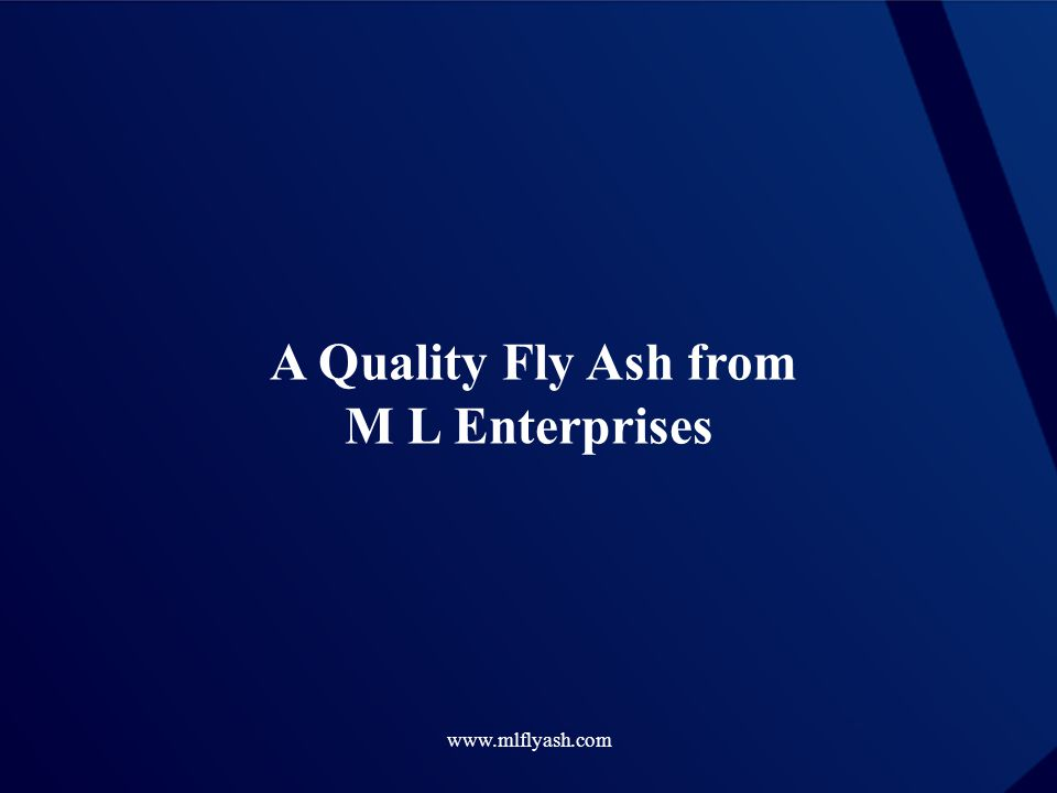 A Quality Fly Ash from M L Enterprises