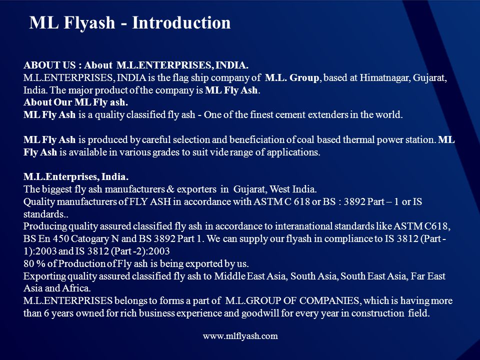 ML Flyash - Introduction