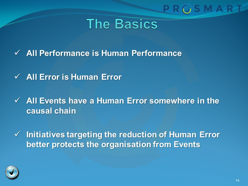 The Basics All Performance is Human Performance