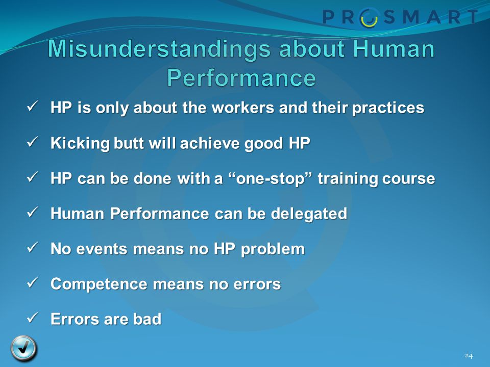Misunderstandings about Human Performance