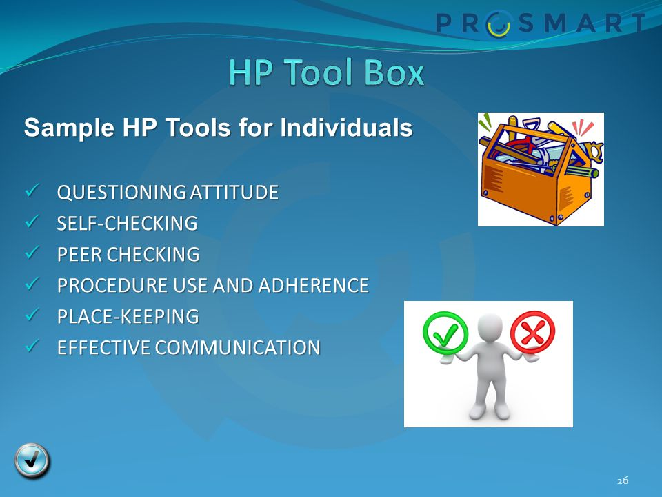 HP Tool Box Sample HP Tools for Individuals QUESTIONING ATTITUDE