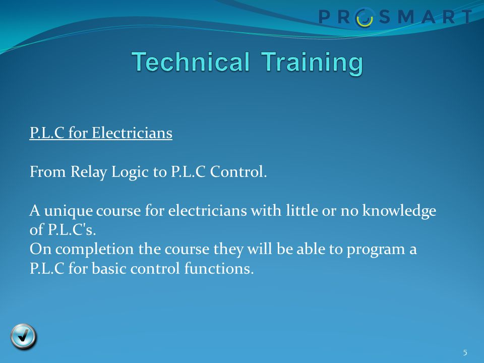 Technical Training P.L.C for Electricians