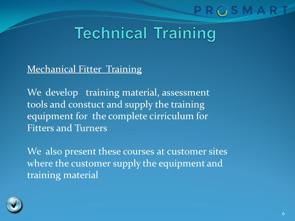 Technical Training Mechanical Fitter Training