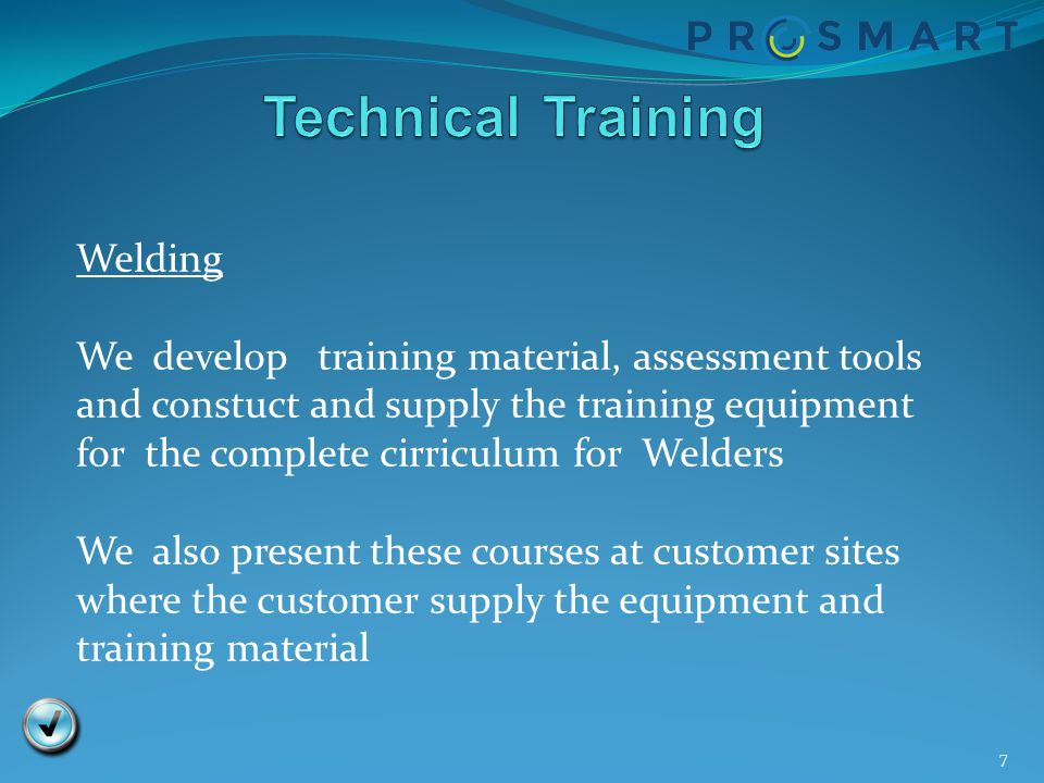 Technical Training Welding