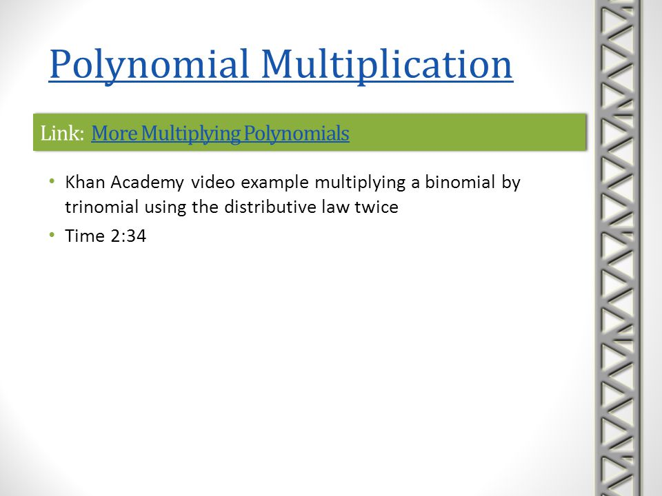 Link: More Multiplying Polynomials