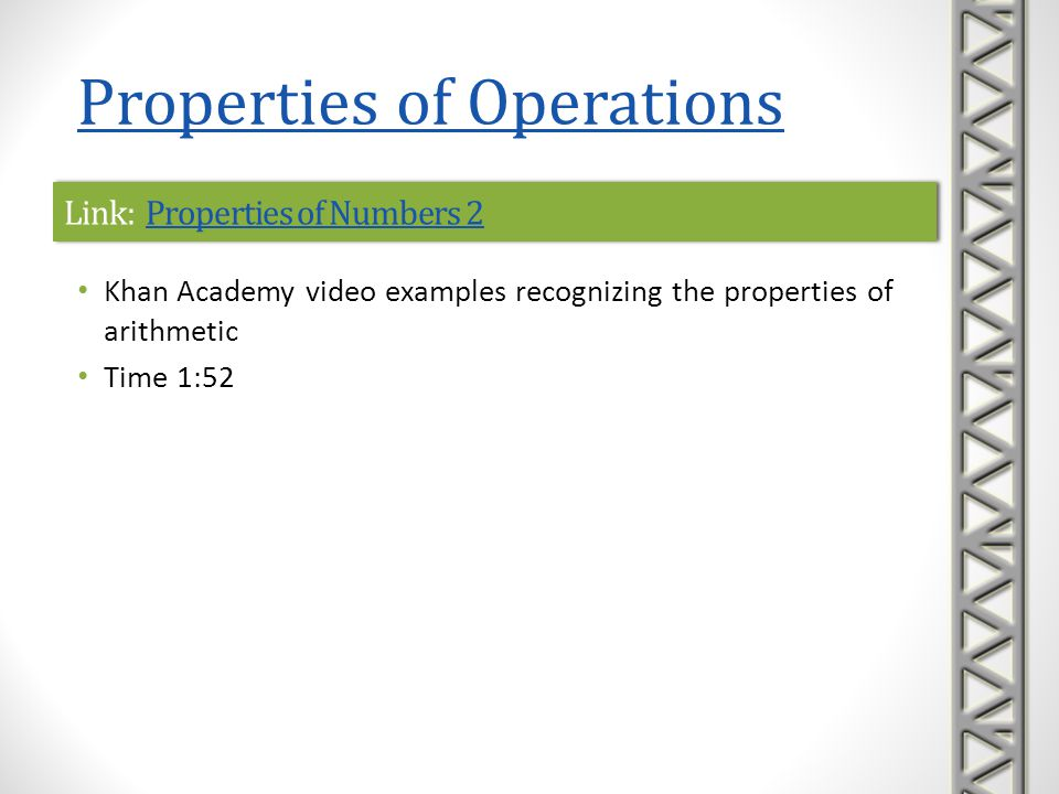 Link: Properties of Numbers 2