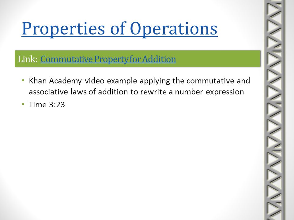 Link: Commutative Property for Addition