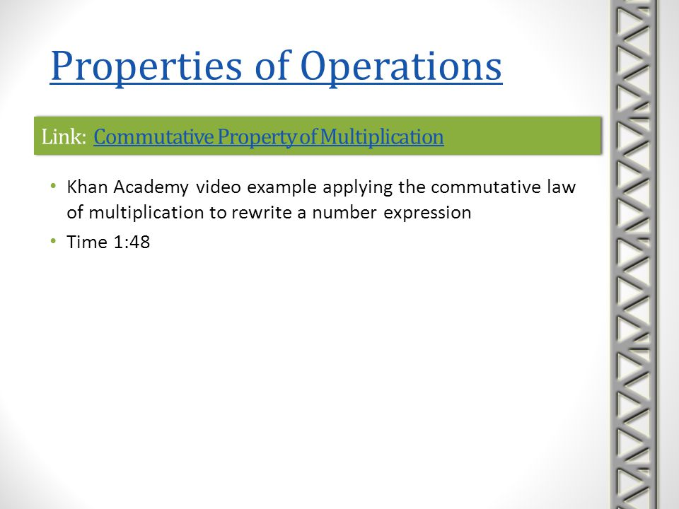 Link: Commutative Property of Multiplication