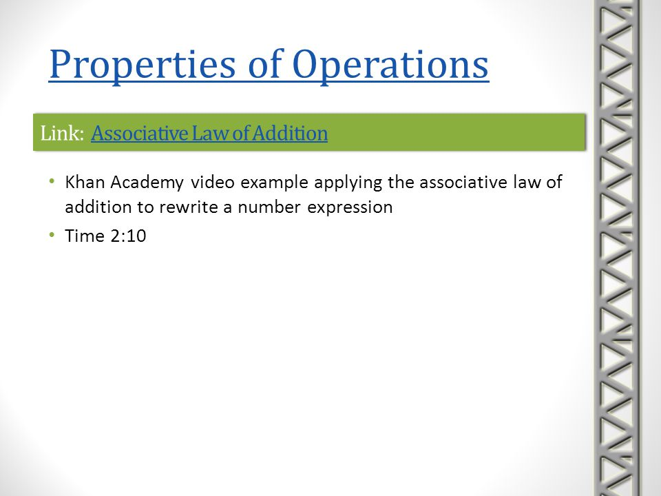 Link: Associative Law of Addition