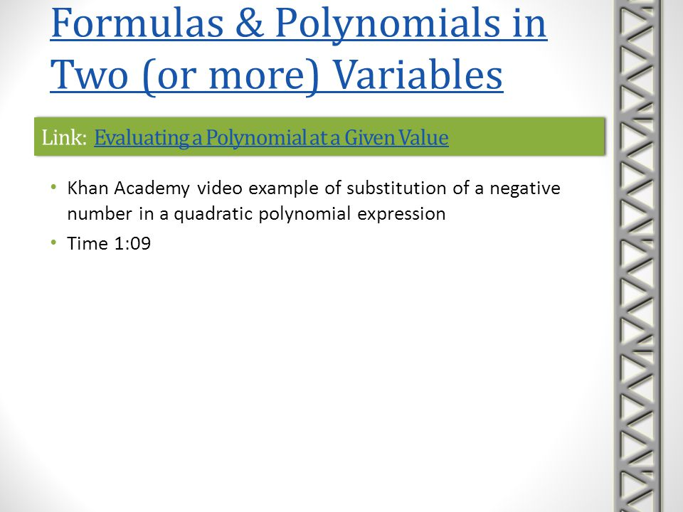 Link: Evaluating a Polynomial at a Given Value