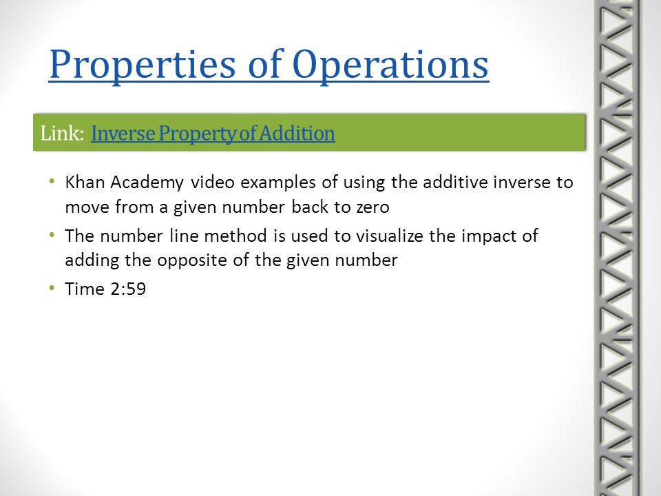 Link: Inverse Property of Addition