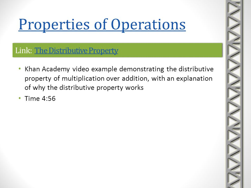 Link: The Distributive Property