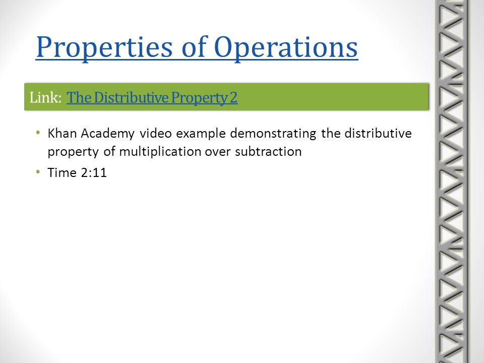 Link: The Distributive Property 2