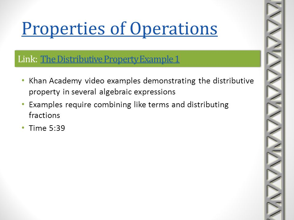 Link: The Distributive Property Example 1