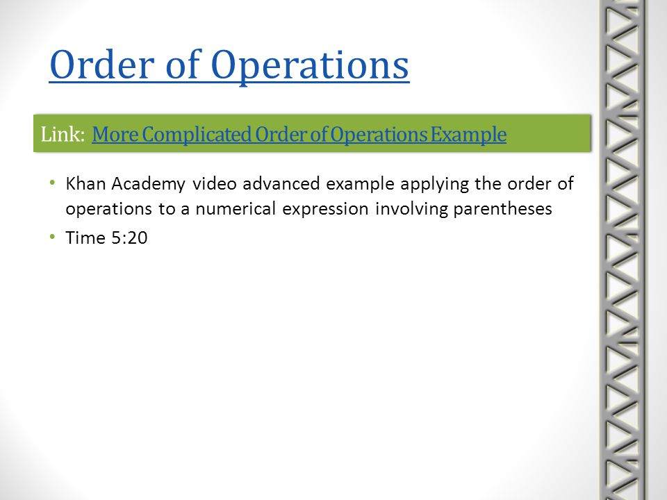 Link: More Complicated Order of Operations Example