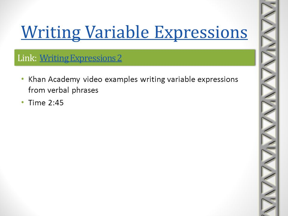 Link: Writing Expressions 2