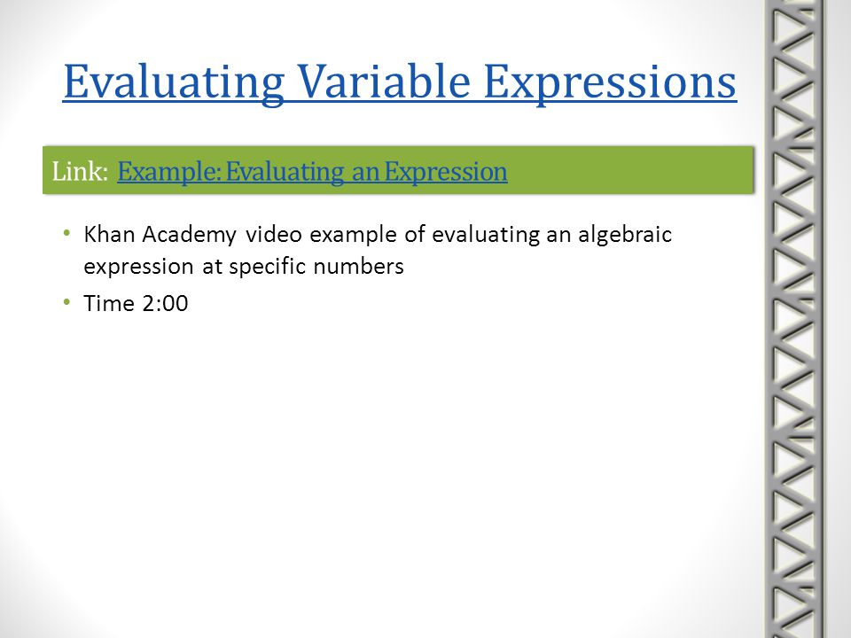 Link: Example: Evaluating an Expression