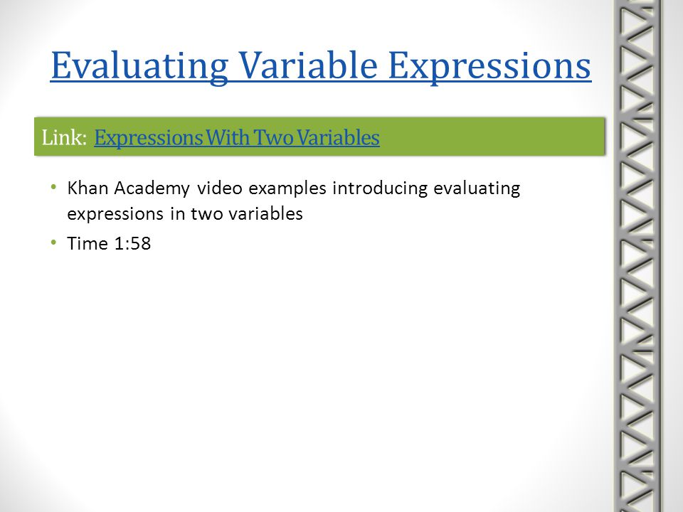 Link: Expressions With Two Variables