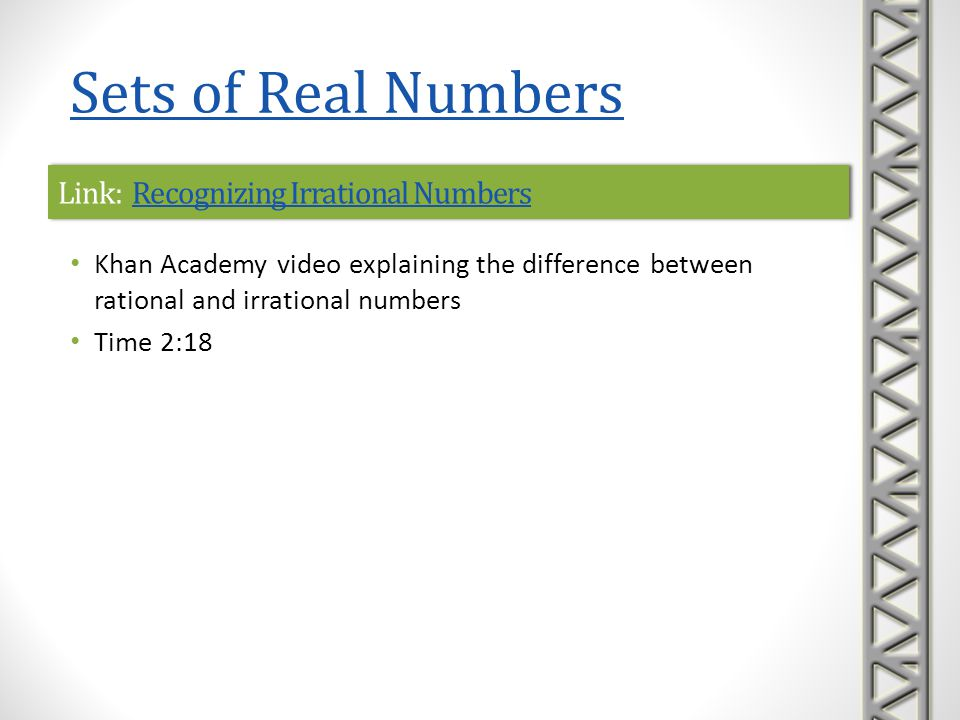 Link: Recognizing Irrational Numbers
