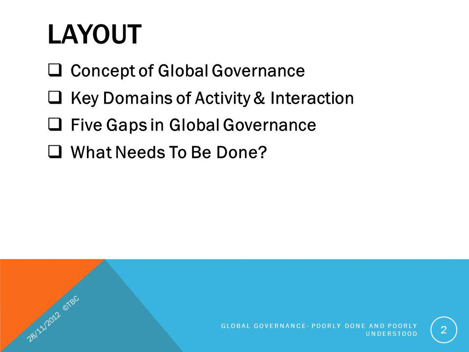 LAYOUT Concept of Global Governance