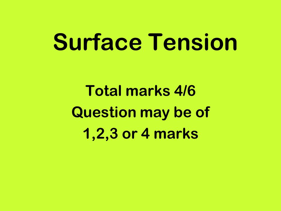 Total marks 4/6 Question may be of 1,2,3 or 4 marks