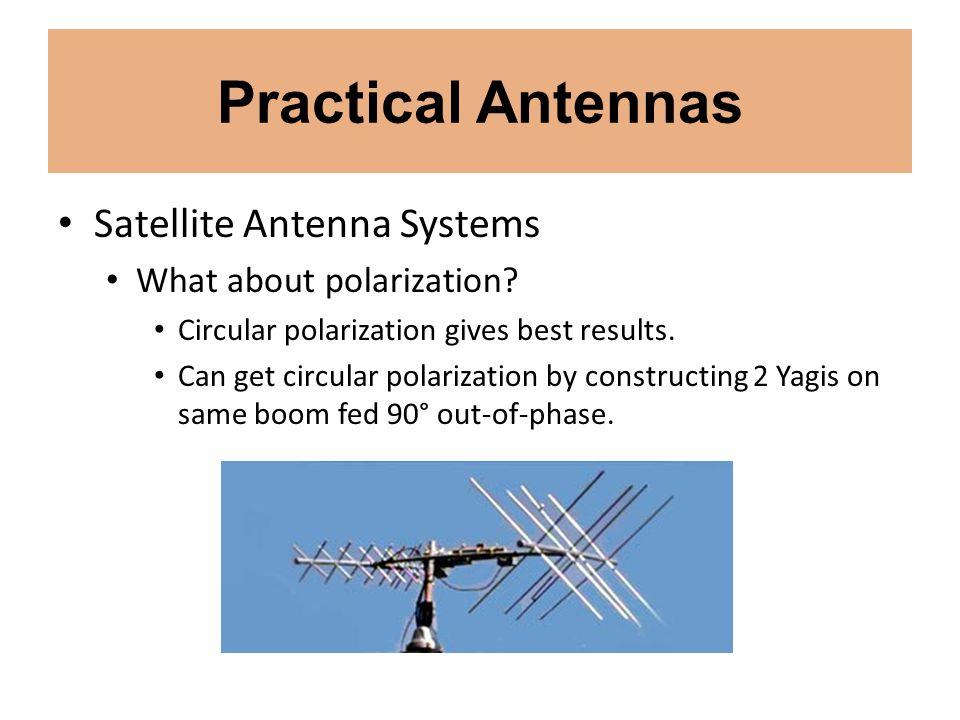 Practical Antennas Satellite Antenna Systems What about polarization