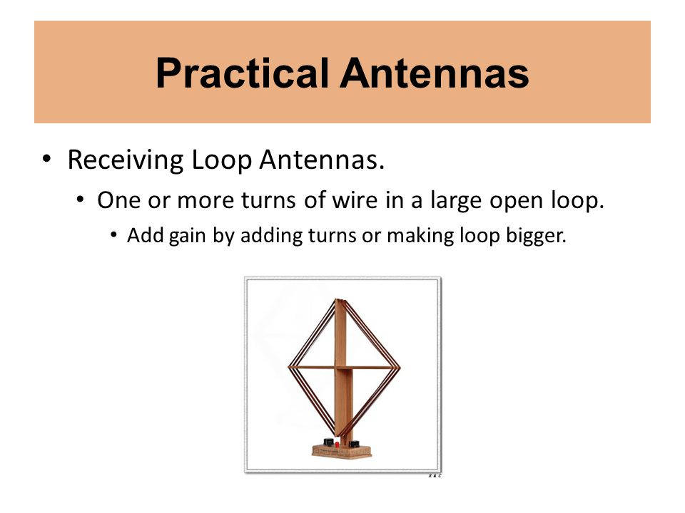 Practical Antennas Receiving Loop Antennas.