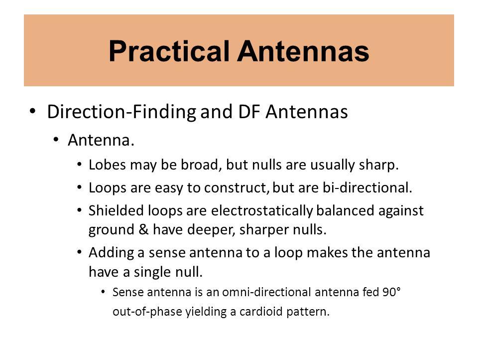 Practical Antennas Direction-Finding and DF Antennas Antenna.