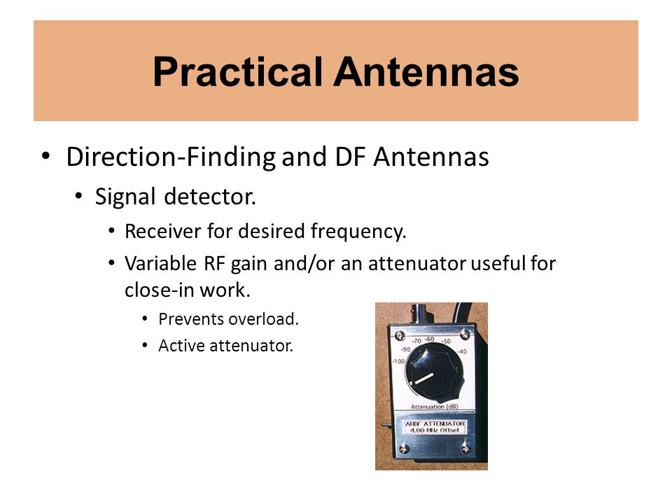 Practical Antennas Direction-Finding and DF Antennas Signal detector.