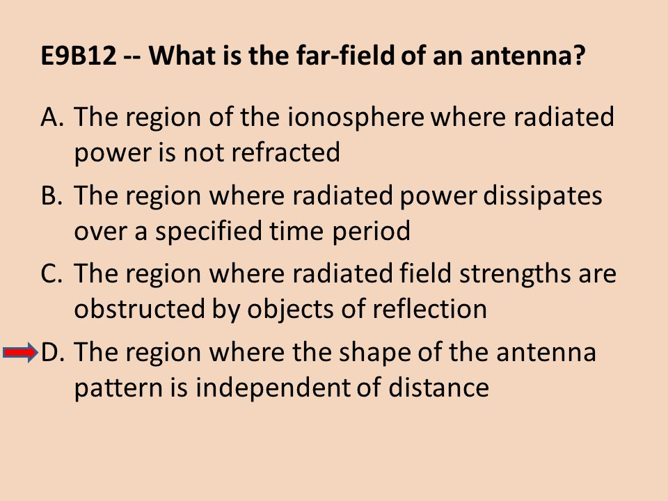 E9B12 -- What is the far-field of an antenna