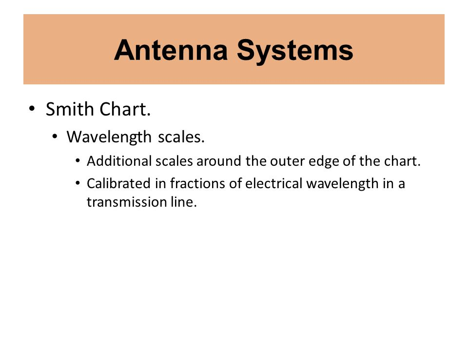 Antenna Systems Smith Chart. Wavelength scales.