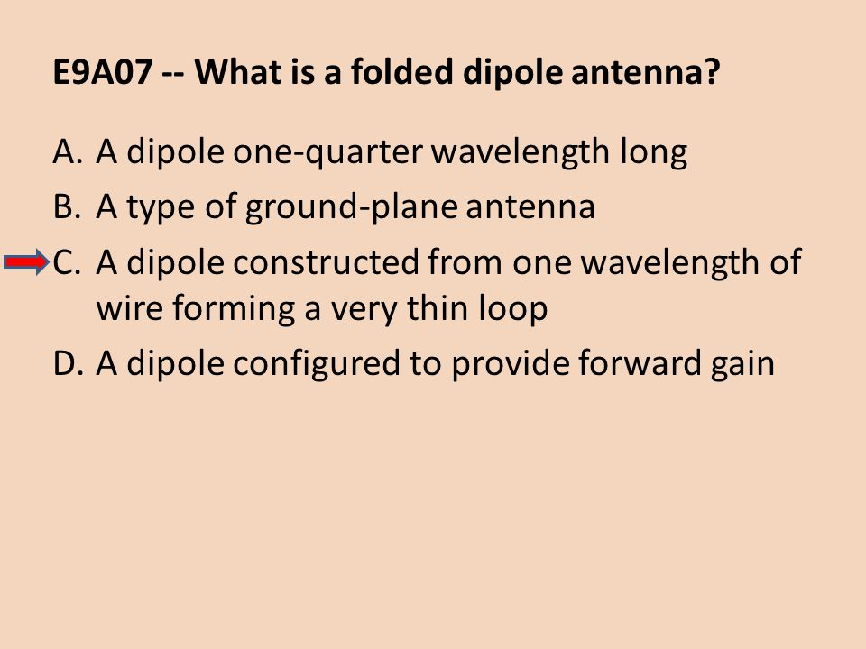 E9A07 -- What is a folded dipole antenna
