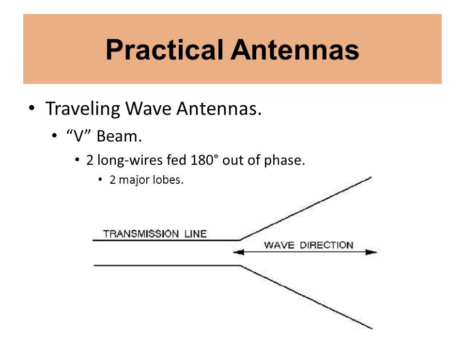 Practical Antennas Traveling Wave Antennas. V Beam.