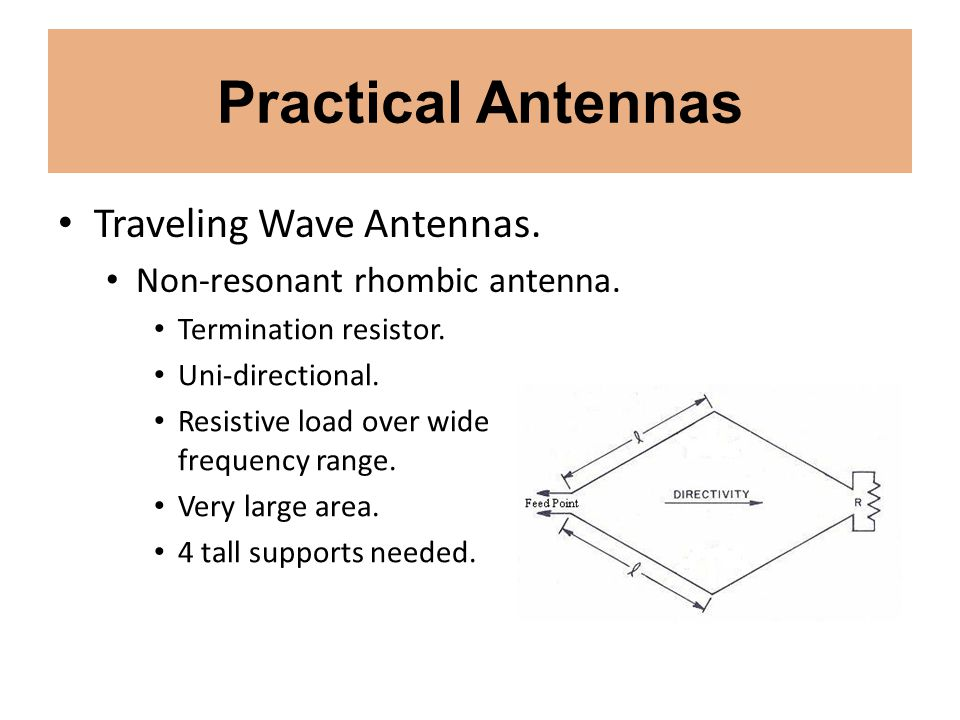Practical Antennas Traveling Wave Antennas.