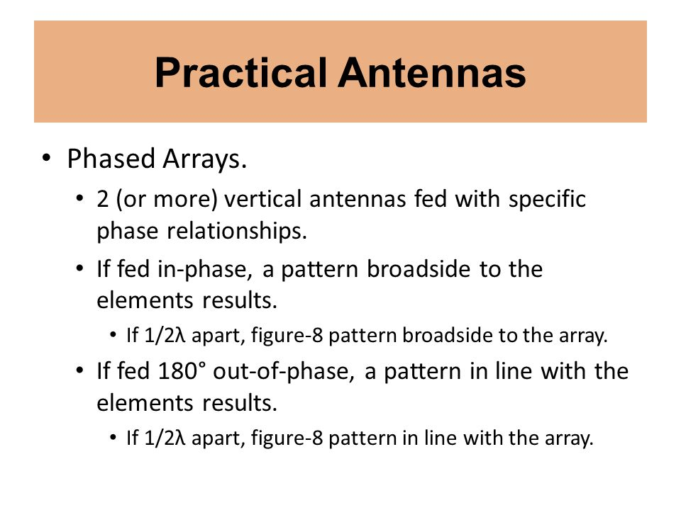 Practical Antennas Phased Arrays.